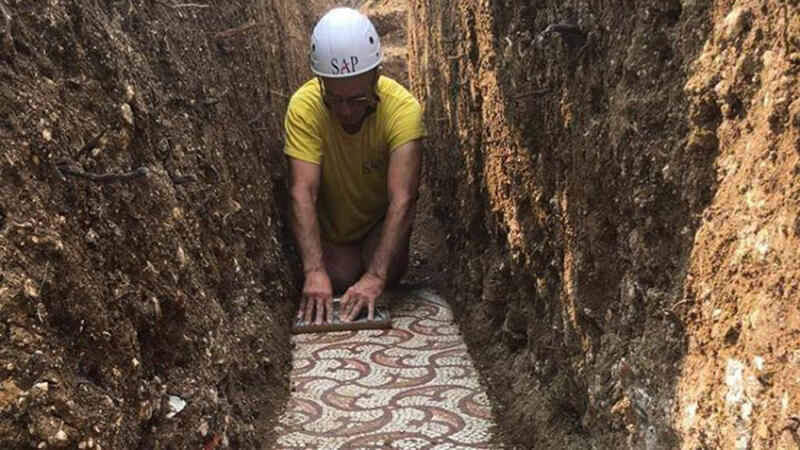 Roman mosaic in Negrar di Valpolicella
